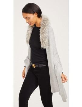 Krystal Wrap With Faux Fur Collar by J.Mc Laughlin