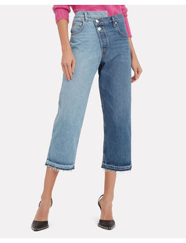 Split Wash Cropped Jeans by Monse