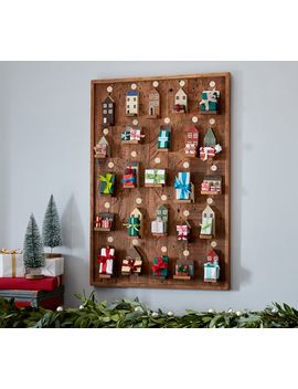 Wooden Houses Wall Advent Calendar by Pottery Barn