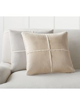 Faux Shearling Pillow Covers by Pottery Barn