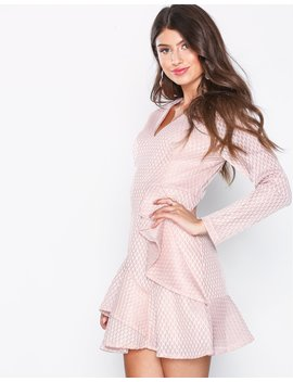 Plunge Ruffle Skater Dress by Missguided