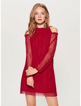 Czerwona Sukienka Z Szyfonu by Mohito