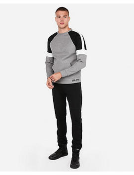 Soft Double Knit Color Block Sweatshirt by Express