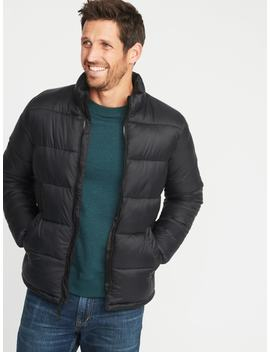 Nylon Frost Free Puffer Jacket For Men by Old Navy