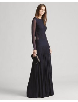 Pleated Long Sleeve Gown by Ralph Lauren