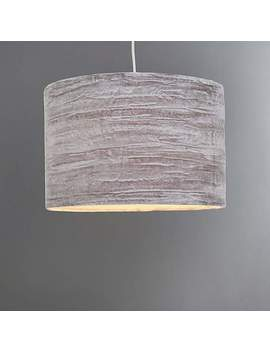 Lulu Large Grey Crushed Velvet Shade by Dunelm