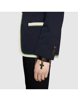 Cotton Wool Jacket With Anchor Crest by Gucci