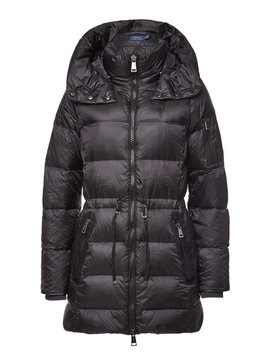 Quilted Down Coat With Drawstring Waist by Polo Ralph Lauren