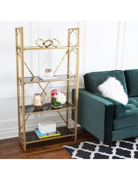 Abbyson Ledford Gold Book Shelf by Abbyson