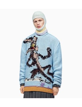 Wile E. Coyote Reverse Intarsia Jumper by 205 W39 Nyc