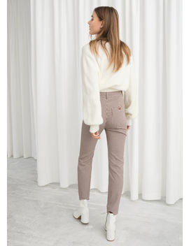 High Waist Gingham Trousers by & Other Stories