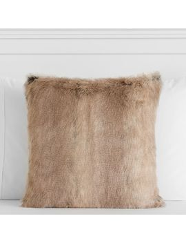 Reversible Faux Fur Pillow Cover by P Bteen
