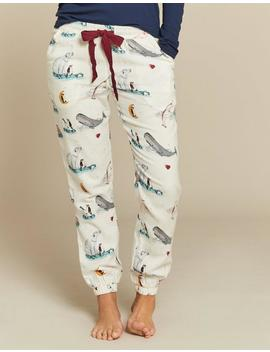 Star Gazing Cuffed Lounge Pants by Fat Face