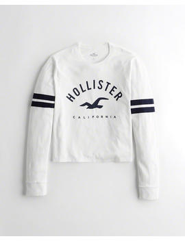 Crop Boyfriend Graphic Tee by Hollister