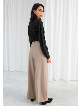 Wide Stretch Wool Trousers by & Other Stories