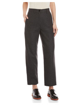 Wool Charcoal Pants by Hache