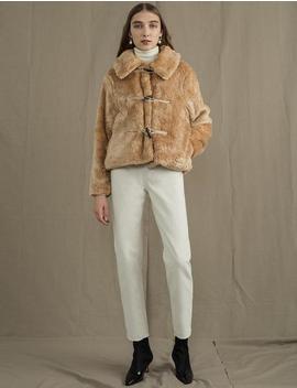 Faux Fur Toggle Jacket by Pixie Market