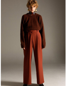 Karen Buckled Wide Legged Trousers Apa268 W Brick by Andersson Bell
