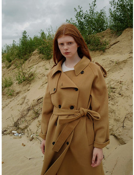 Handmade Wool Trench Coat Camel by Nuissue