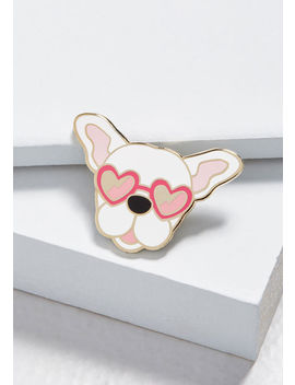 Pup Rally French Bulldog Pin by Modcloth