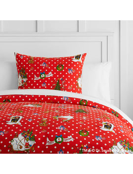 Grinch™ Flannel Dot Duvet Cover + Sham by P Bteen