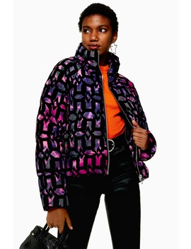Flock Chain Puffer Jacket by Topshop