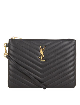 Monogramme Quilted Pouch by Saint Laurent