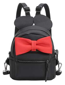 Contrast Oversized Bow Tie Embellished Backpack by Romwe