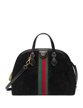 Ophidia Medium Web Suede Top Handle Bag by Gucci