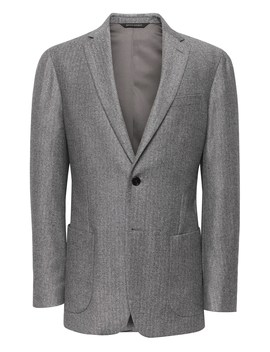 Slim Herringbone Italian Flannel Suit Jacket by Banana Repbulic