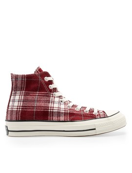 Converse Plaid Chuck 70 Hi (Red) by Dover Street Market