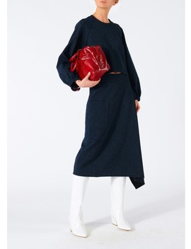 Eclipse Pique Origami Wrap Skirt by Tibi