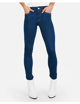 Mid Rise Contrast Stitch Stretch Jean Leggings by Express