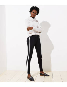 Leggings In Tuxedo Stripe Ponte by Loft