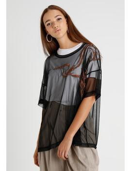 Harp Embroidery   T Shirt Print by Weekday
