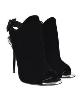 Velvet Heeled Boots by Giuseppe Zanotti