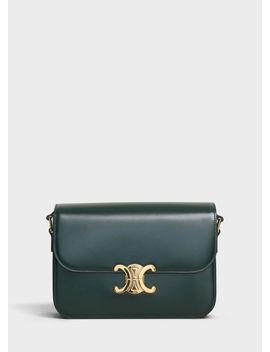 Medium Triomphe Bag In Shiny Calfskin by Celine