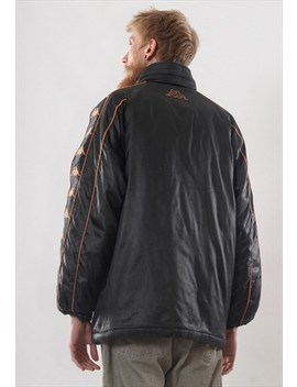 Jacket by Rare Vintage Mens Kappa Big Logo Stripes Winter Jacket