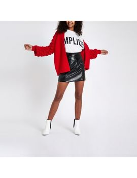 Red Bobble Knit Cardigan by River Island