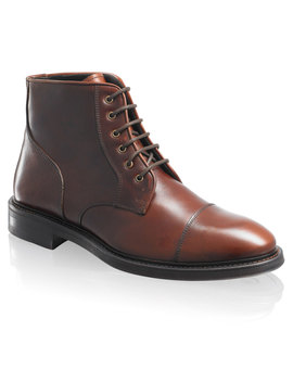 Toe Cap Lace Boot by Portobello