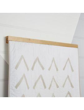Wooden Quilt Hanger by Crate&Barrel