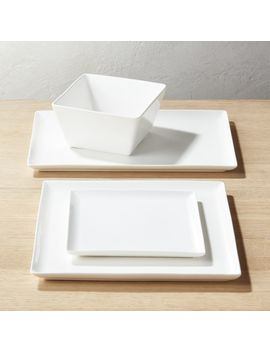 Tuck White Dinnerware by Crate&Barrel