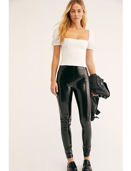 Blank Nyc Dominatrix Patent Skinny Trousers by Free People