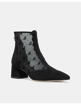 Skyler Ankle Bootie With Tea Rose Mesh by Coach