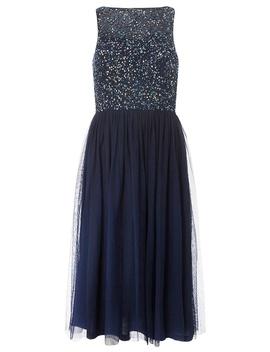 **Showcase Cordelia Navy Sequin Bodice Midi Prom Dress by Dorothy Perkins