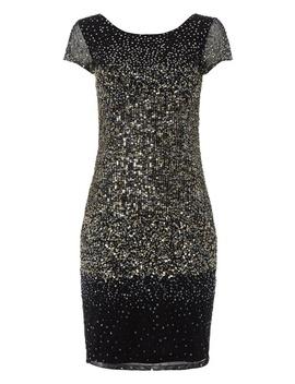 *Roman Originals Silver Ombre Sequin Bodycon Dress by Dorothy Perkins