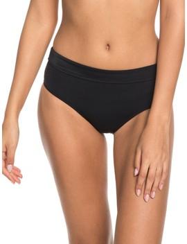 Beach Basic Mid Waist Bikini Bottoms by Roxy