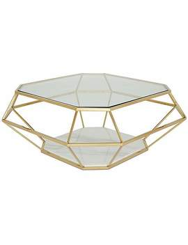 Iris Coffee Table   Gold by Dunelm
