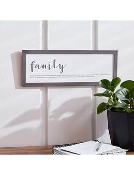 Family Wall Plaque by Dunelm