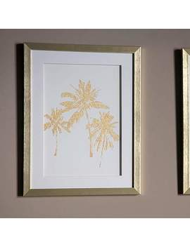 Gallery Direct Date Palms Gold Framed Wall Art by Dunelm